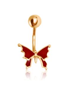 Золотий пірсинг з емаллю