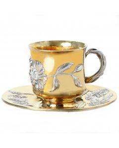 Чашка з блюдцем «Ромашка»