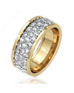 Золота обручка з цирконієм «Краса»