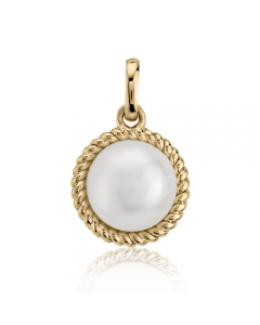 Золотий кулон з перлами «Quirino»