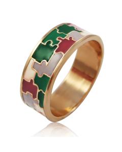 Золотое кольцо «Puzzle»