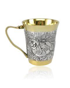 Чашка зі срібла з позолотою «Карлсон»