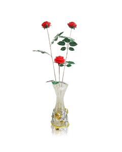 """Ваза с серебром и позолотой """"Розы"""""""