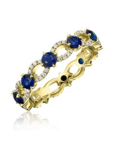 """Золотое кольцо с сапфирами """"Saphire Elite Gold"""" белое золото"""