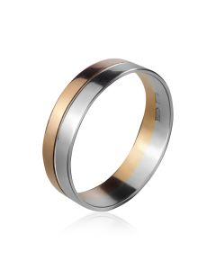 Кольца обручальные комбинированные «Два цвета любви»