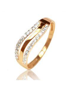 Золотое кольцо с цирконами «Галактика»