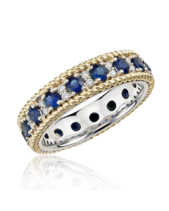 Обручальное кольцо комбинированное с Сваровски
