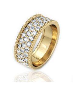 Золота обручка з цирконієм «Чарівність»
