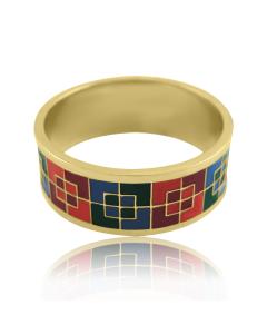 Золоте кільце «Квадратики»