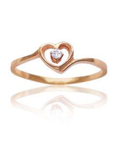 Золотое кольцо с цирконом «Небесный шепот»