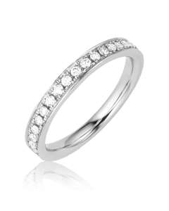 обручальное кольцо с цирконием