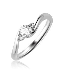 Золотий заручальний перстень «Laurina»