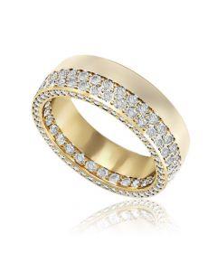 Золота обручка з цирконієм «Оригінальність»