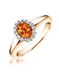 Кольцо из золота с спессартином «Viennese waltz»