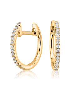 Сережки круглі з діамантами «Caroline»