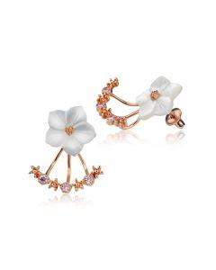 Сережки кафи у формі квітки «Подих весни»