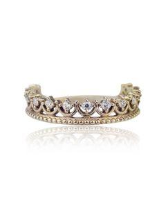 Золоте кольцо у вигляді корони «La princesse»