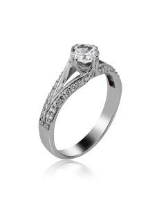 Жіночий перстень на заручини «Зірка кохання»