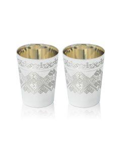 Набор стопок из серебра «Вышиванка»