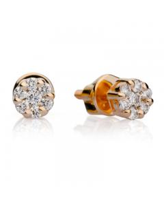 Золоті сережки гвоздики c фіанітами «Arina»