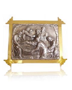 Серебряная икона с позолотой