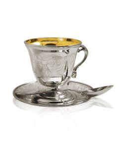 Серебряный сервиз «Кофейный» на шесть персон