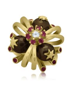 Золоте кільце з перлинами «Санта Марія дель Мараколі»