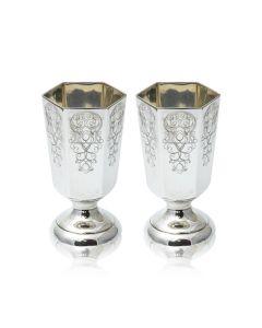 Набор красивых серебряных рюмок «Шевалье»