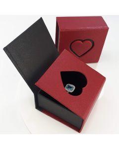 Упаковка серце для каблучки або сережек