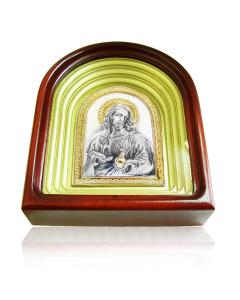 """Серебряная икона """"Иисус Христос"""""""