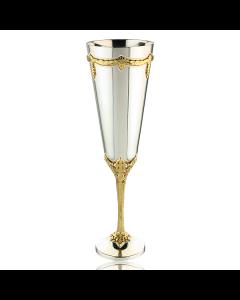 Набор двух бокалов латунных в серебре