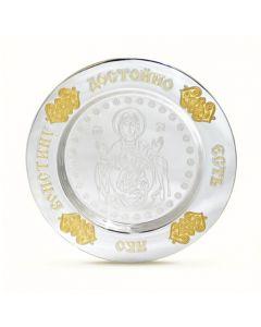 Серебряная тарелка «Знамение»