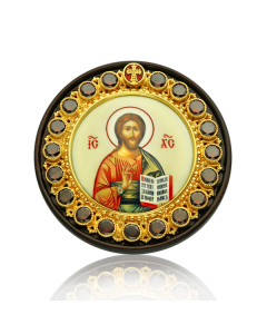 Серебряная автомобильная икона