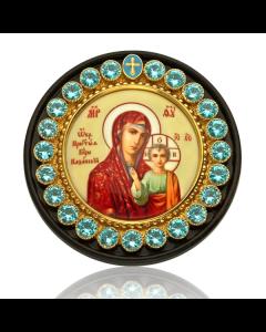 Казанская икона в серебре для авто