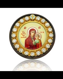 Серебряная автоикона Казанская