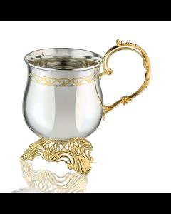 Кружка кофейная с позолотой из серебра «Латте»
