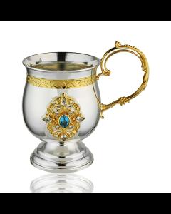 Чайно-кавовий набір з срібла з топазом «Ранковий аромат»
