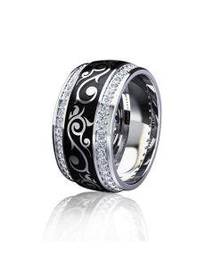 """Эксклюзивное кольцо с эмалью """"Бьюти"""""""
