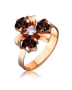 """Золотое кольцо с раухтопазом """"Violeta"""""""