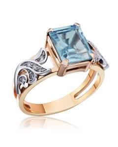 """Золотое кольцо с топазом """"Модный приговор"""""""