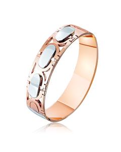 Золотое обручальное кольцо «Mr. & Mrs. Happy»