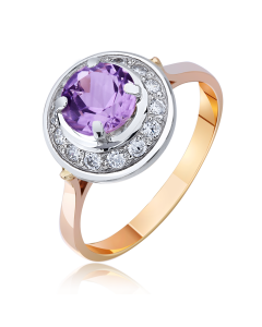 """Золотое кольцо с топазом """"Прекрасная царевна"""""""
