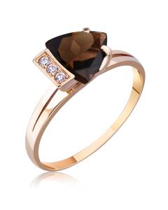 Золотое кольцо с раухтопазом