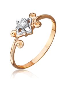 Золотое кольцо с бриллиантом «Мечта»