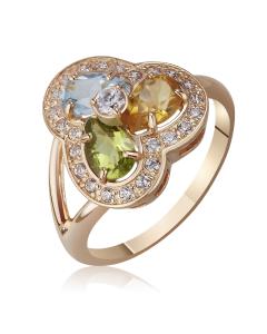 Золотое кольцо с самоцветами