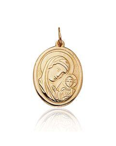 """Золотая ладанка """"Пресвятая Богородица с сыном"""""""