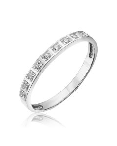 Золотое кольцо с дорожкой бриллиантов «Path to happiness»