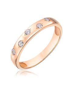 Обручальное кольцо с пятью бриллиантами «Five love languages»