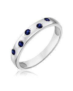Обручальное кольцо с пятью сапфирами «Five love languages»