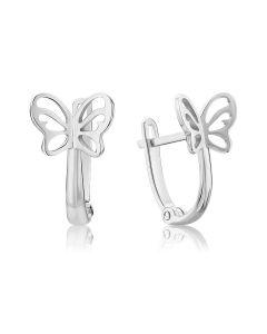 Золоті сережки метелики для дівчинки «Ulysses»